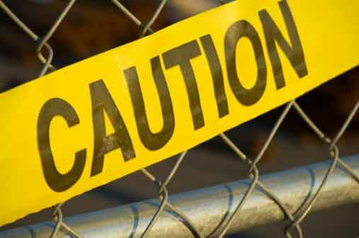Caution Tape - Construction Accident Area