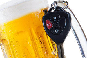 Beer mug with car key